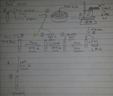 cara kerja sintesis ester