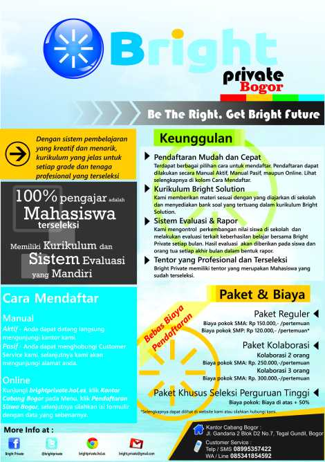 jasa guru les privat UI IPB Bogor