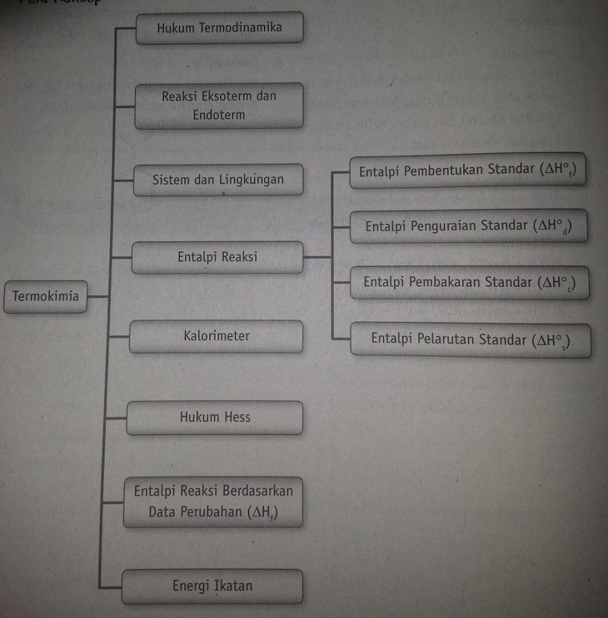 peta konsep termokimia