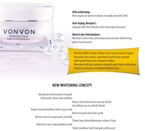 vonvon whitening cream