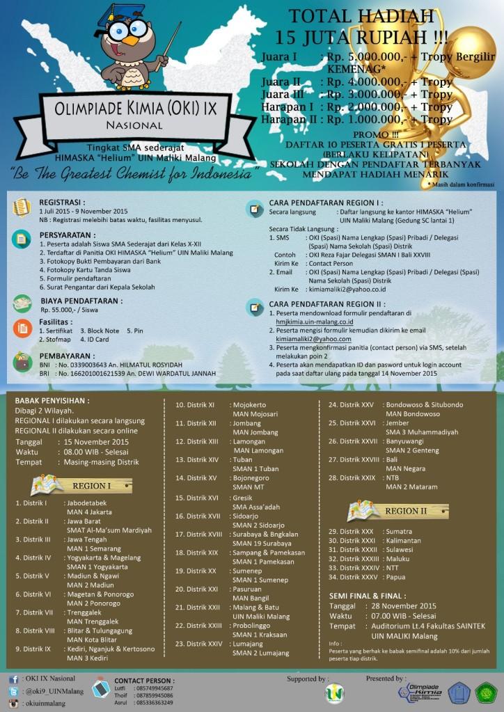 Olimpiade Kimia (OKI) IX Nasional by UIN MALIKI Malang