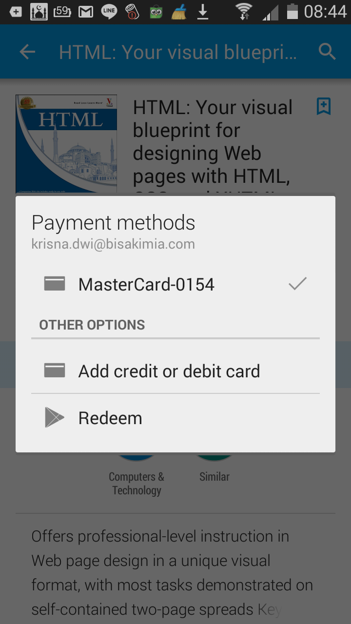 how to delete payment method play store