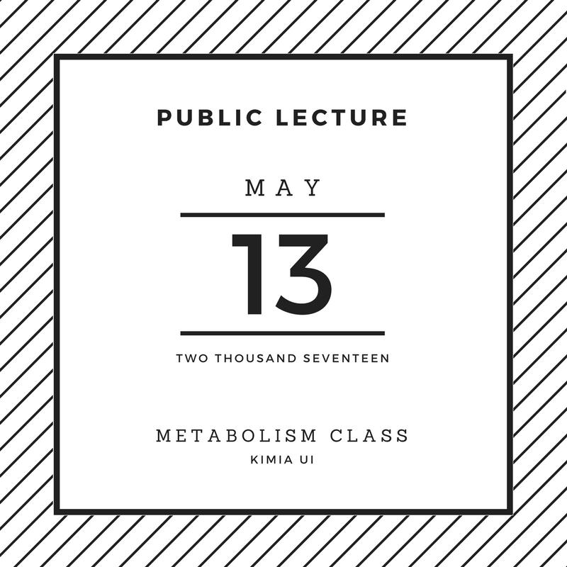 public lecture metabolisme 2017